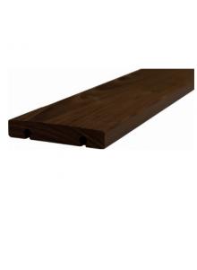 Terrasse bois clipsable sans vis en frêne thermo...