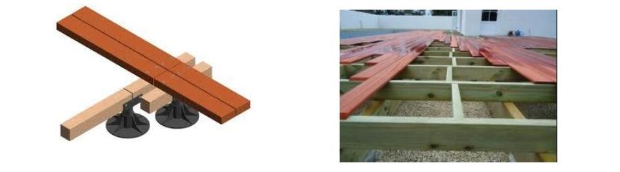 Conseil de pose d'une terrasse en bois lambourdage croquis