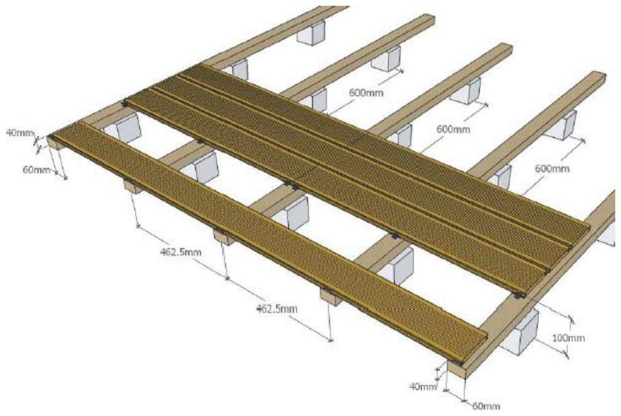 Conseil de pose d'une terrasse en bois - Lambourdage