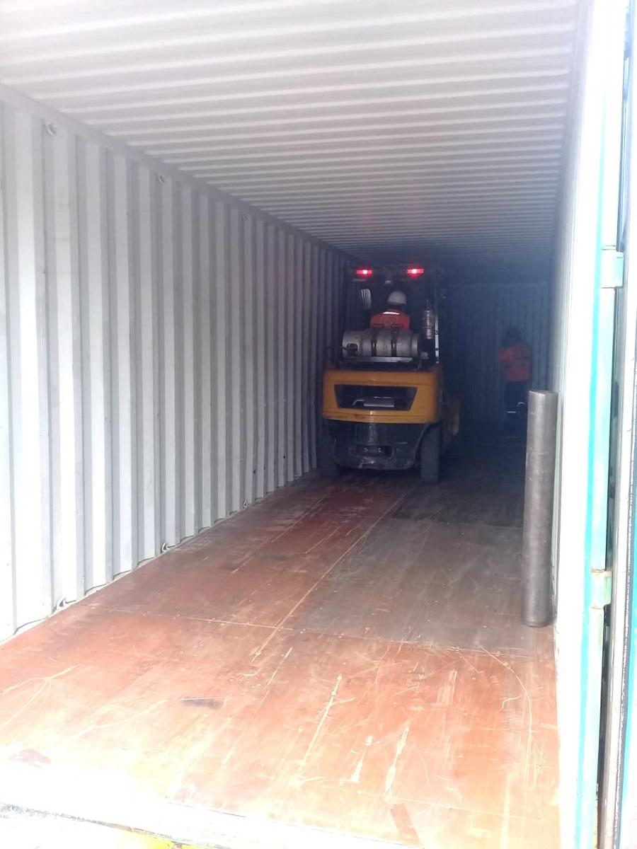 Les container de Cumaru  de Eurodek mise en containers